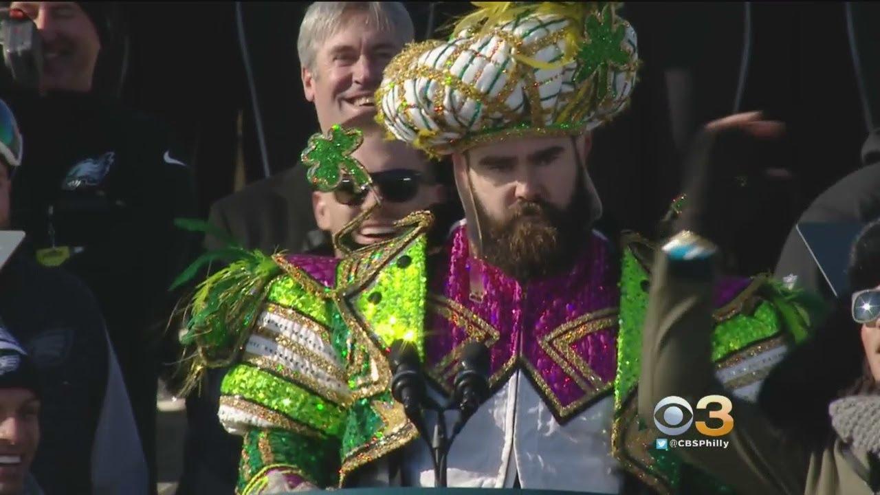 e0f35bab0b7e6f Jason Kelce Gives Rousing Speech At Eagles Super Bowl Parade - YouTube