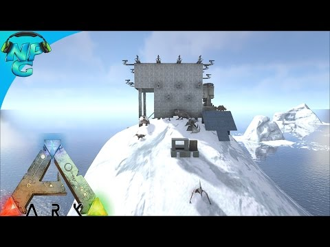 Base on the Peak - Raid on the Iceberg! ARK Survival Evolved
