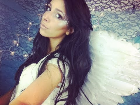 $20 Makeup Challenge Victoria\'s Secret Angel for Halloween - YouTube