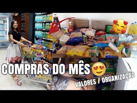COMPRAS DO MÊS ❤ ( Quanto Gastamos ? / Organizando Tudo ) - Tati Pereira thumbnail