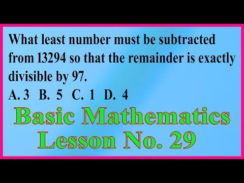 Basic Mathematics for all competitive exams: Lesson No. 29 thumbnail