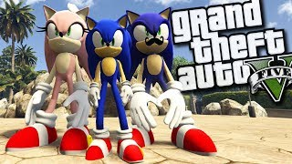 Sonic's MOM and DAD MOD (GTA 5 PC Mods Gameplay)