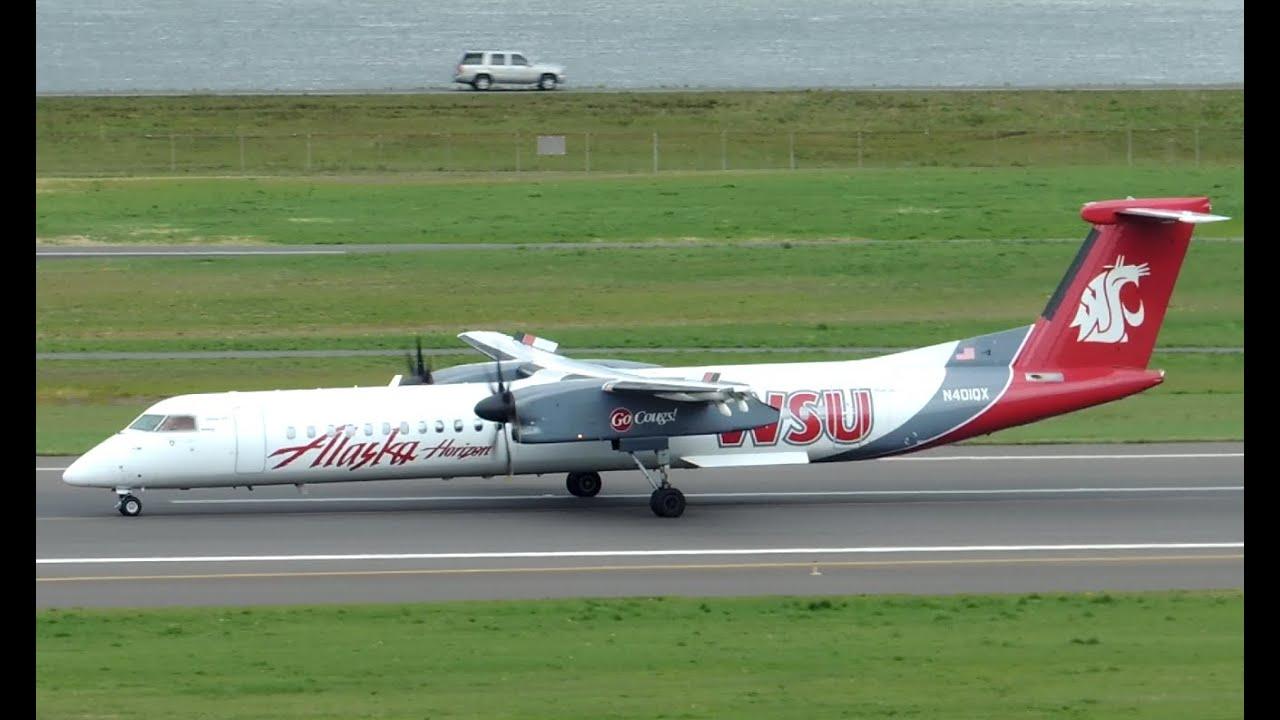 Alaska Airlines Horizon Air Bombardier Dhc 8 Q400 Wsu