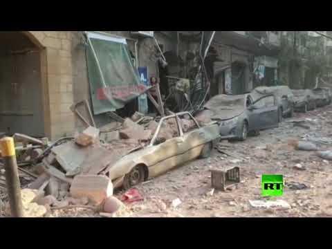 شوارع بيروت بعد الانفجار الضخم  - نشر قبل 9 ساعة