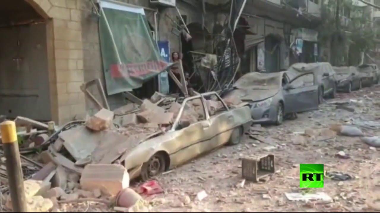 شوارع بيروت بعد الانفجار الضخم