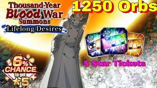 1250 Orbs on TYBW 11 + 2 5 Star Tickets - Bleach Brave Souls