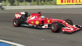 F1 ドイツGP フェラーリでホッケンハイムリンクを走ってみる