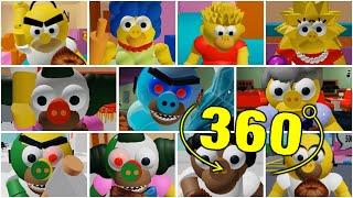 ROBLOX PIGGY THE PIGGYSONS ALL JUMPSCARES 360