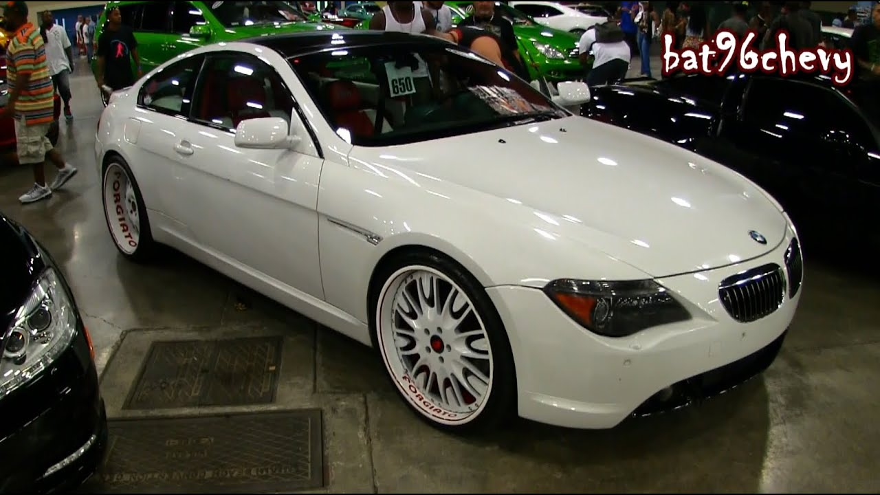 White Red Bmw 650i Coupe On 22 Quot Forgiatos Wheels 1080p