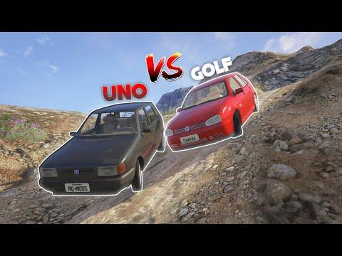 GTA V!! FIAT UNO VS GOLF SUBINDO A MONTANHA (DESAFIO)!!!