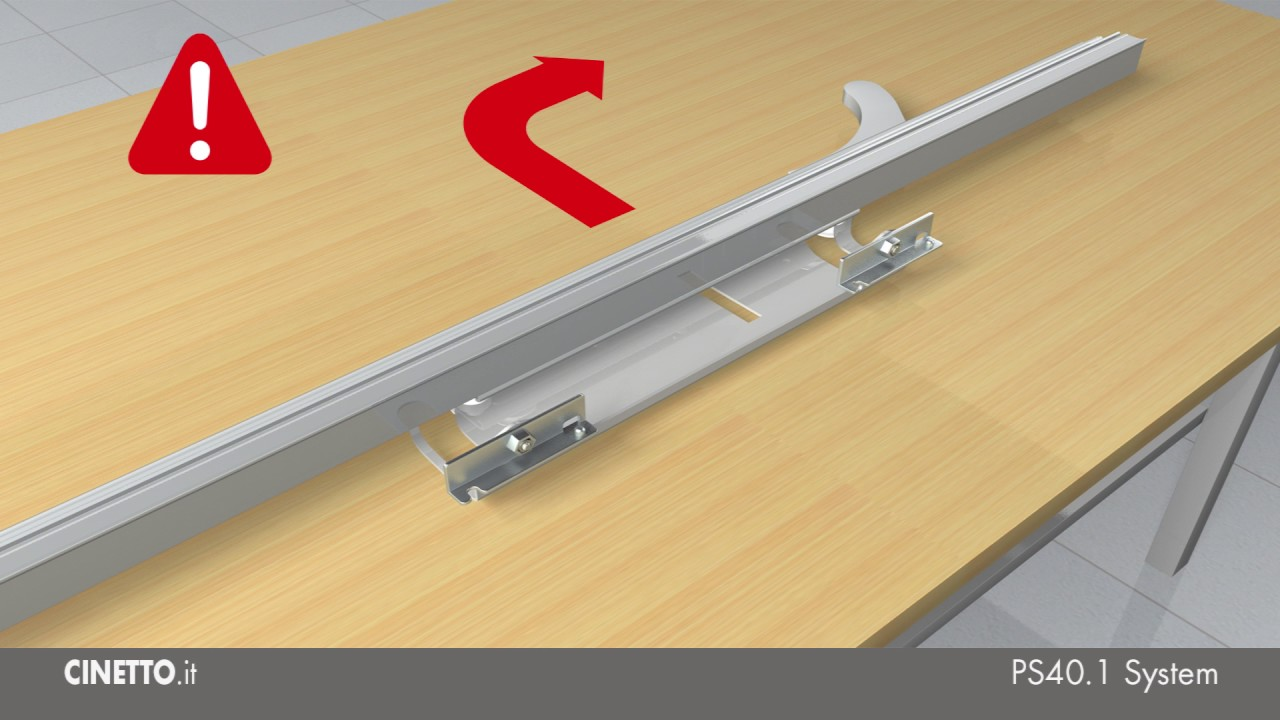 Guide Ante Scorrevoli Complanari.Ante Complanari Meccanismo Cinetto Ps40 Istruzioni Di Montaggio