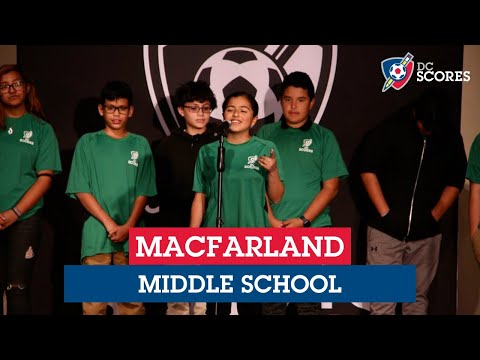 MacFarland Middle School performs at the 2019 Middle School Poetry Slam