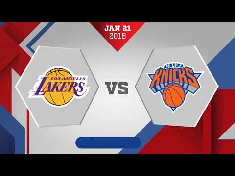 New York Knicks vs. Los Angeles Lakers - January 21, 2018