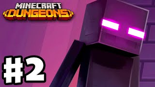 Minecraft Dungeons - Gameplay Walkthrough Part 2 - Soggy Swamp! Endermen!