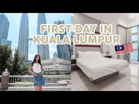 my-first-day-in-kuala-lumpur!⎮beautiful-apartment-tour,-petrona-twin-towers-&-klcc-park