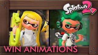 Splatoon 2 - All Winning Animations