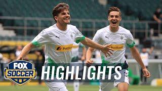 Mönchengladbach Gets Champions League Qualification W/win Over Hertha | 2020 Bundesliga Highlights