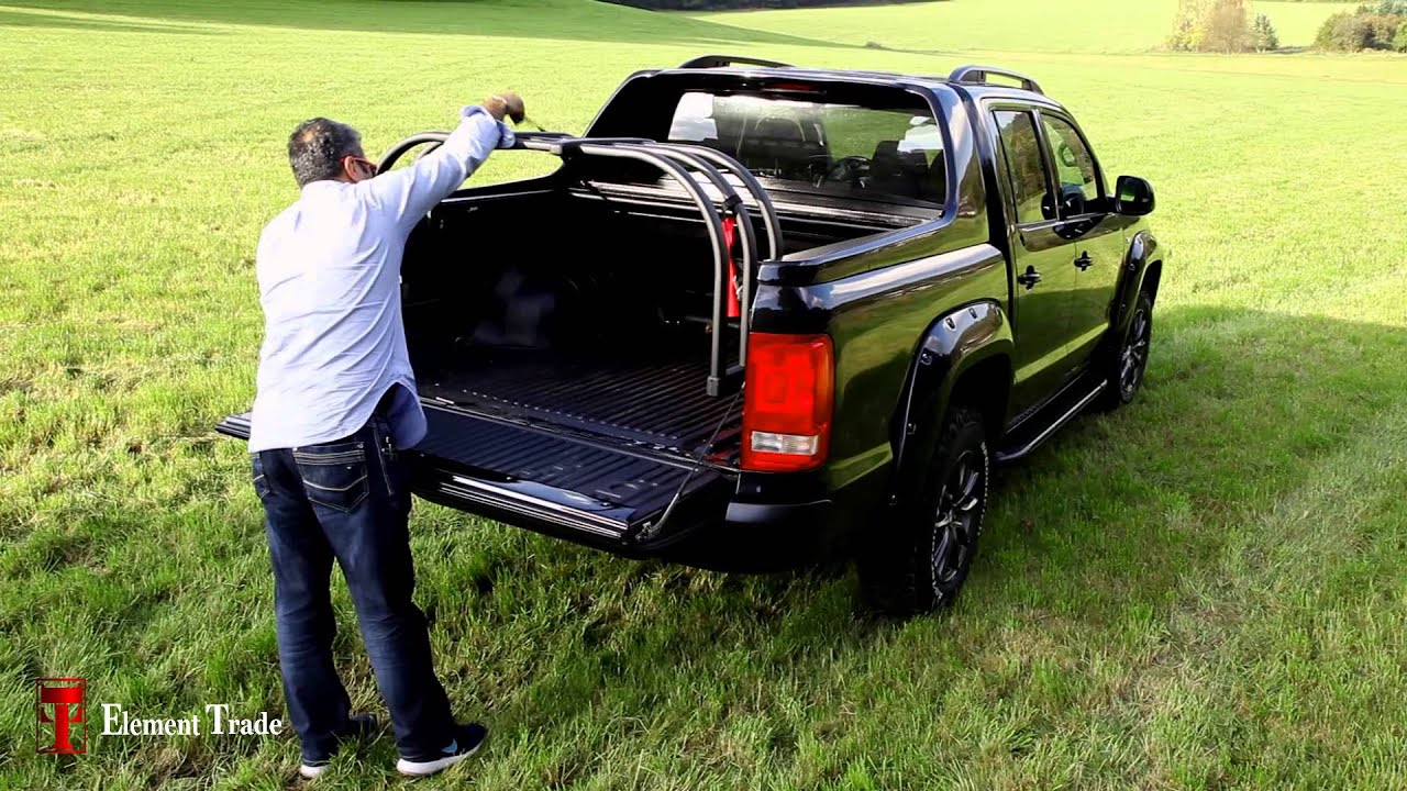 vw amarok pick up superbox laderaumabdeckung hardtop youtube. Black Bedroom Furniture Sets. Home Design Ideas