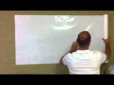 "GearXS Self adhesive ""Dry Erase Board"" Roll Wallpaper - 30"" X 10' + 4 FREE Expo Dry Erase Markers"