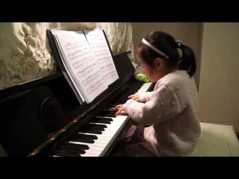 Anke Chen Age 5 Plays  Clementi Piano Sonata in D Major Op 36 No 6 1 Allegro con spirito 2016 4 16
