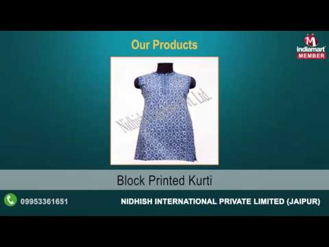 Hand Embroidered Garments by Nidhish International Private Limited, Jaipur