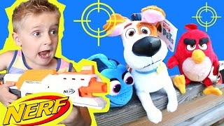 Angry Birds Toys & Secret Life of Pets Toys NERF BLASTERS Gun Shootout by KidCity