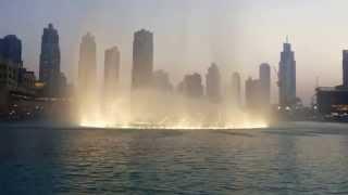 Dancing Fountain at Burj Khalifa, Dubai Mall, Dubai 2014