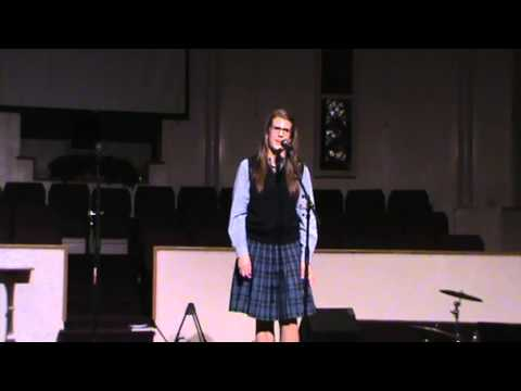Carrie Gallager, 1st Place, 10th Grade - An Old Sweetheart Of Mine By James Whitcomb Riley