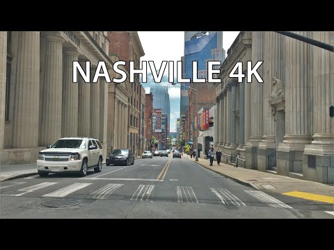 Nashville 4K - Skyscraper District - Driving Downtown