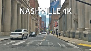Nashville 4k - Skyscraper District Drive - Usa