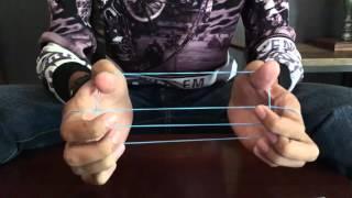 Stairway Magic tricks tutorial , Money and rubber band tricks