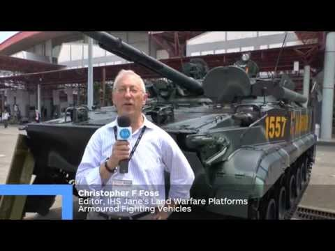 IndoDefence 2014 - Indonesian Marine Corps BMP-3F Infantry Fighting Vehicle