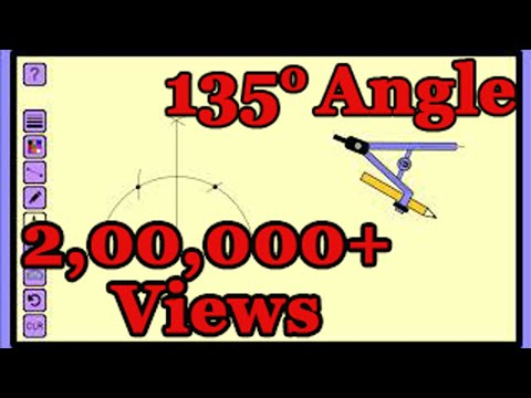 How to construct 135 degree angle.