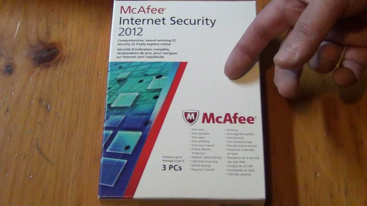 Unboxing McAfee Internet Security Software 3PC Version