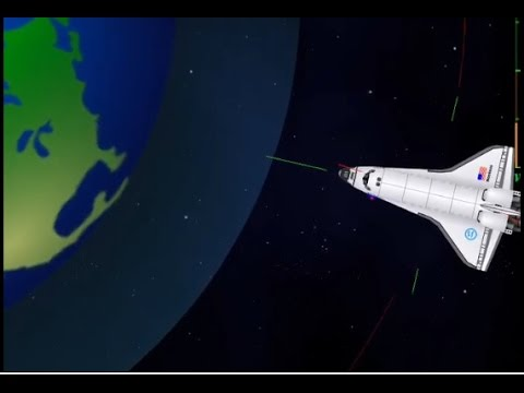 Space Agency space shuttle reentry !! Fail