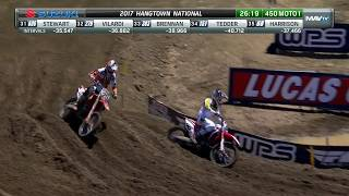 Hangtown 450 Moto 1: Craig crashes, loses lead