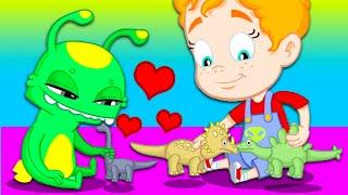 Groovy Марсианин - Приключения в парке аттракционов - Мультфильмы для детей