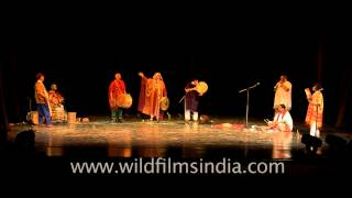 An amazing performance by professional folk musicians at Africa Festival in Delhi