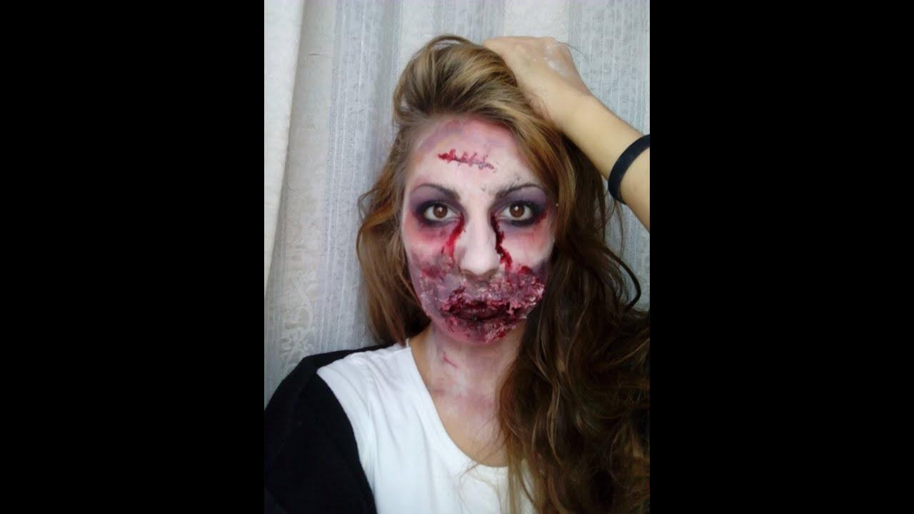 Halloween Zombie MakeUp Tutorial ITA-ENG - YouTube