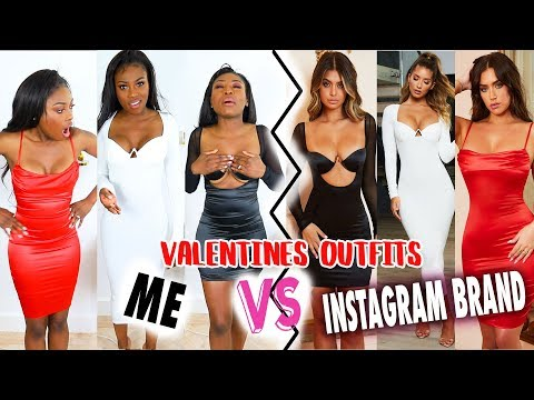 TRYING VALENTINES OUTFITS FROM INSTAGRAM BRAND VS ME...WOULD YOU WEAR ANY OF THESE??