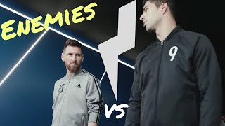 Messi and Suarez enemies in their new announcement