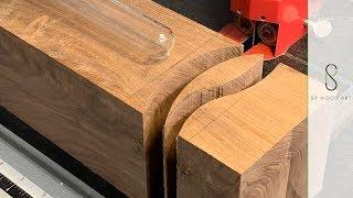 Wood and Resin Multi Media Bud Vase
