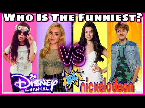 Thumbnail: Who's The Funniest? Disney Or Nickelodeon Stars - Try Not To Laugh Challenge Musically Edition