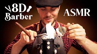 ASMR 8D Barbershop   360° Haircut & Shaving Triggers For Sleep And Tingles [Ultra Realistic]
