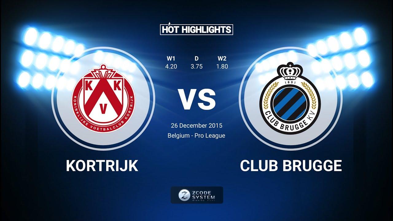 Kortrijk Vs Club Brugge All Goals And Highlights Belgium Pro League YouTube