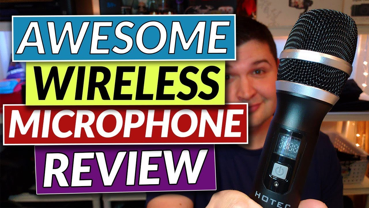 wireless microphone review hotec wireless microphone on amazon youtube. Black Bedroom Furniture Sets. Home Design Ideas