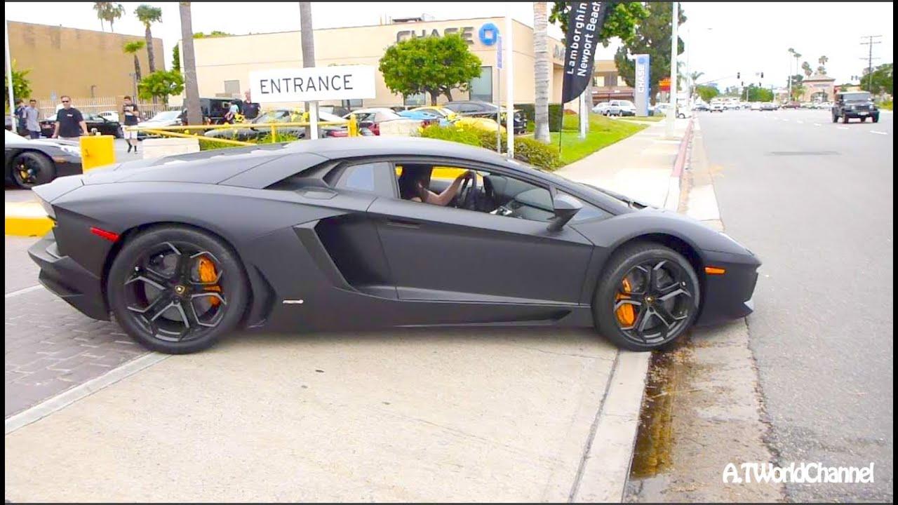 TALL SEXY ASIAN GIRL Revving & Driving Lamborghini Aventador! Exhaust Sound