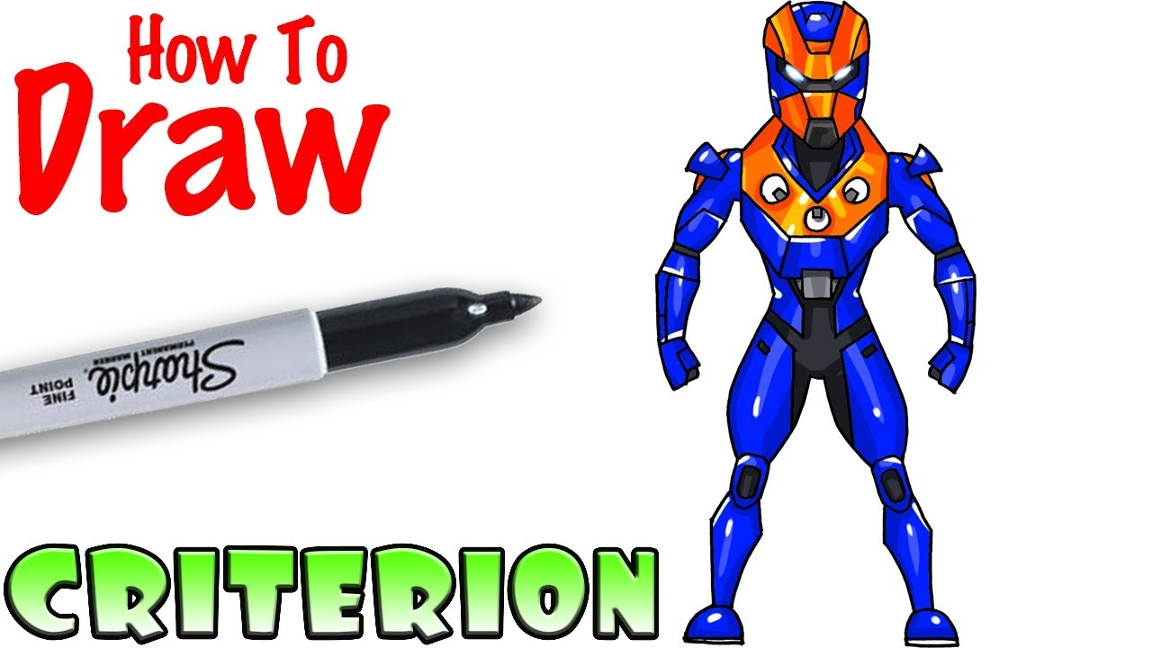 How To Draw Criterion Fortnite Youtube