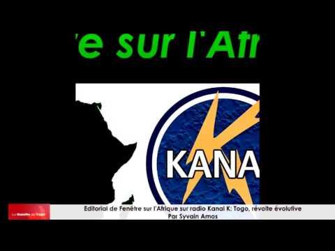 Éditorial de Fenêtre Sur l'Afrique sur Radio Kanal K : Togo, la révolte évolutive par Sylvain Amos