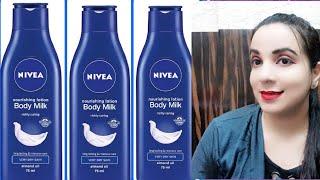 NIVEA NOURISHING BODY MILK REVIEW ||NIVEA BODY LOTION|| HOW TO USE ||